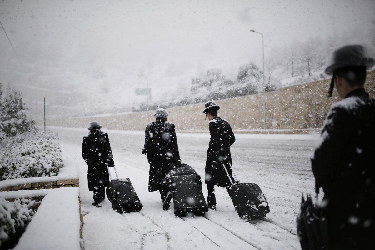 suitcase snow