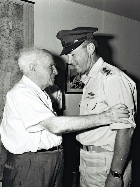 David Ben Gurion (first Prime-minister of Israel) and Yitzchak Rabin (Twice Prime-Minister of Israel.)